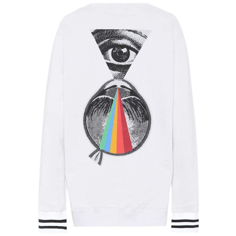 アンダーカバー レディース トップス スウェット・トレーナー【Embroidered cotton sweatshirt】Off White