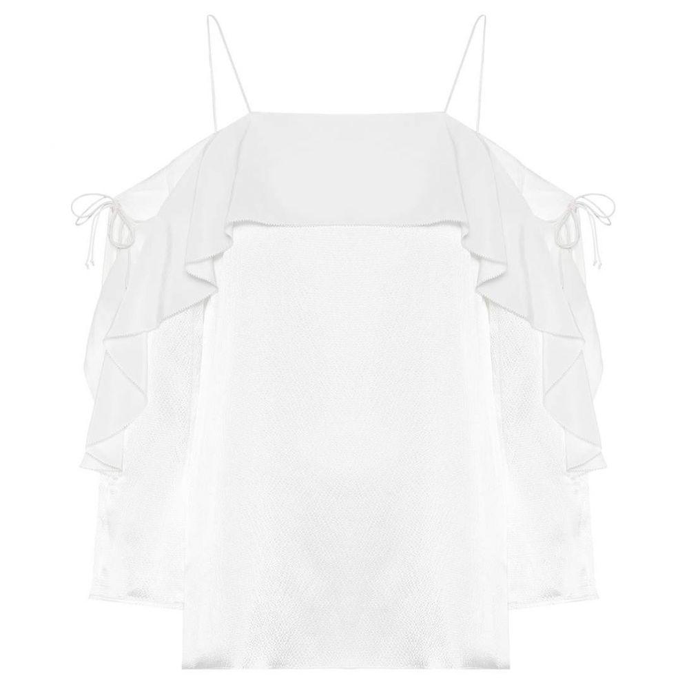 ドロシー シューマッハ レディース トップス ブラウス・シャツ【Fascinating Structure silk blouse】Camellia White