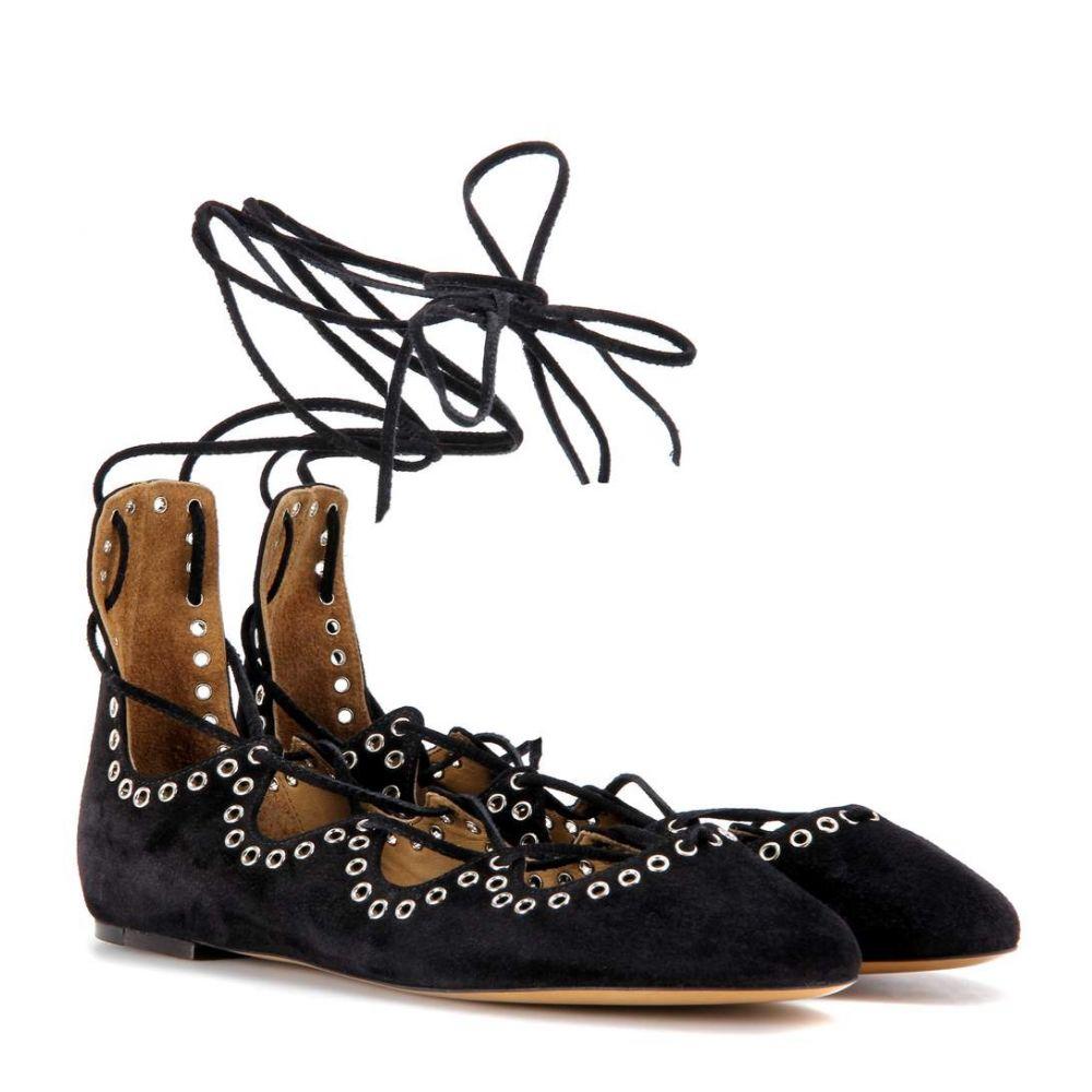 イザベル マラン レディース シューズ・靴 スリッポン・フラット【Leo suede ballerinas】black
