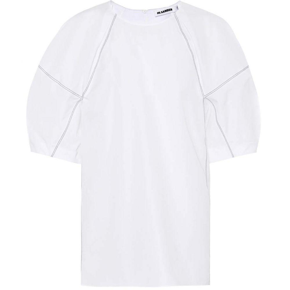 ジル サンダー レディース トップス【Cotton poplin top】White