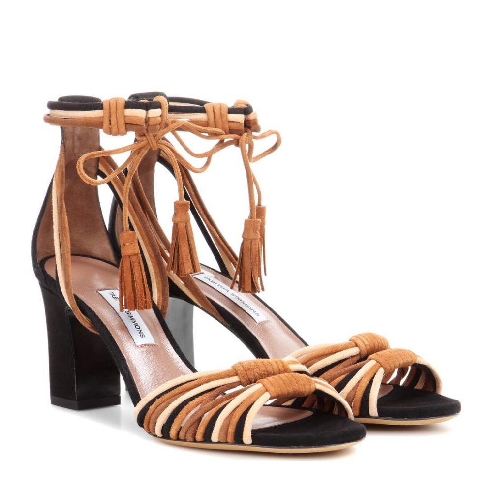 タビサ シモンズ レディース シューズ・靴 サンダル・ミュール【Jamie suede sandals】Multi Brown/Black Kidsuede