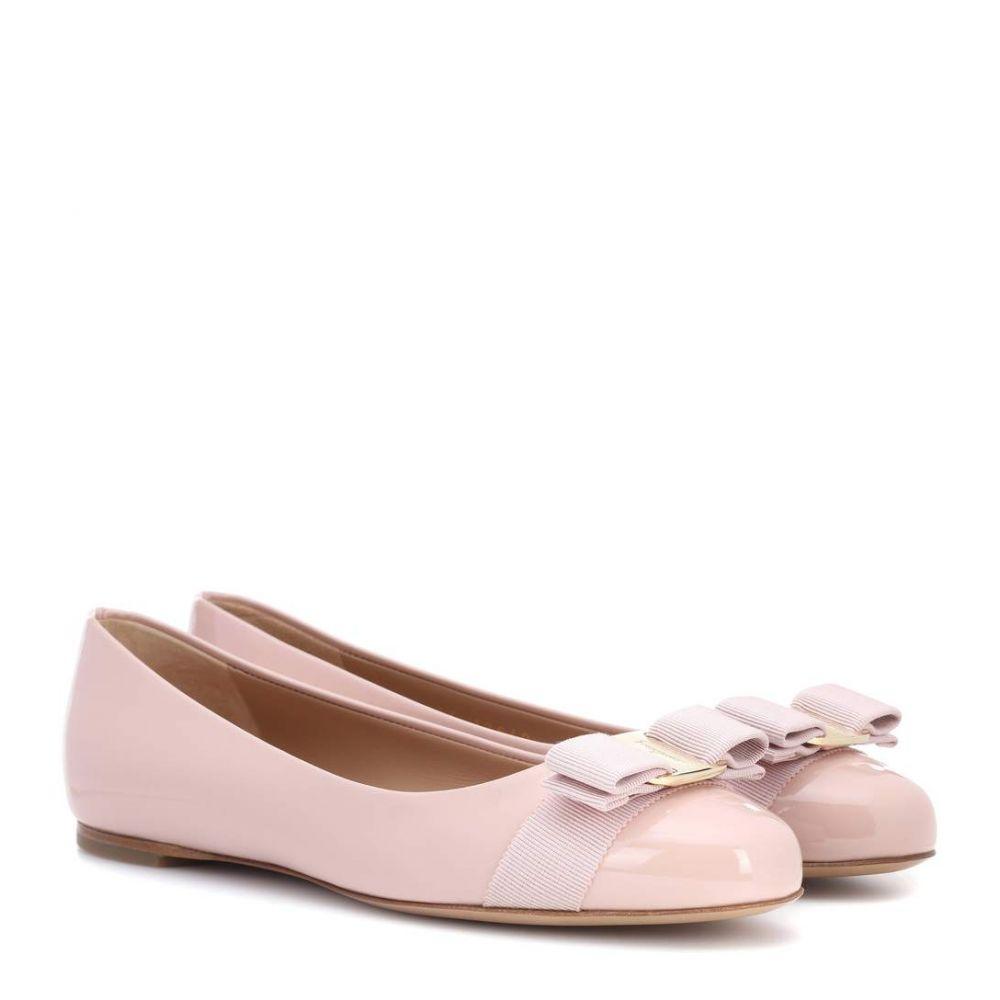サルヴァトーレ フェラガモ レディース シューズ・靴 スリッポン・フラット【Varina patent leather ballerinas】Bon Bon