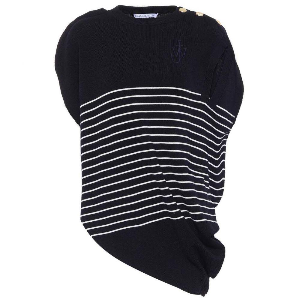 J.W.アンダーソン レディース トップス【Striped wool knit top】Navy