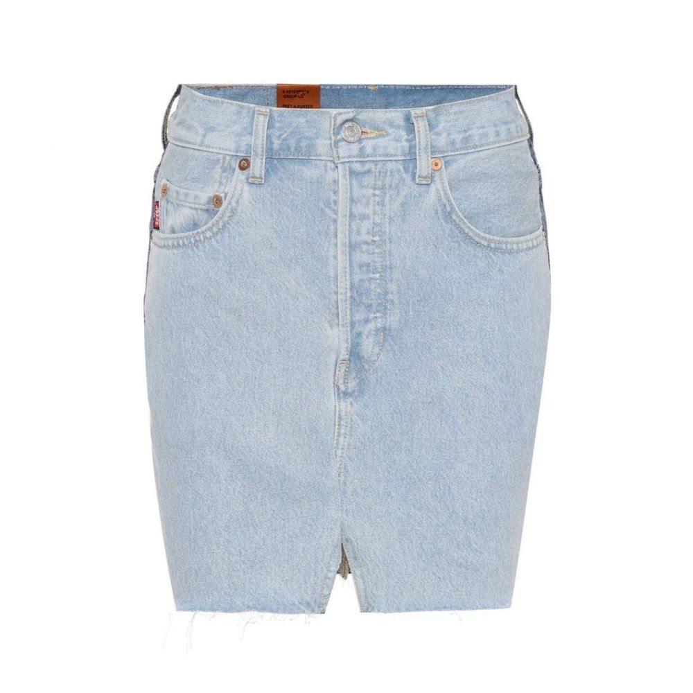 ヴェトモン レディース スカート ミニスカート【X Levi's denim miniskirt】Blue