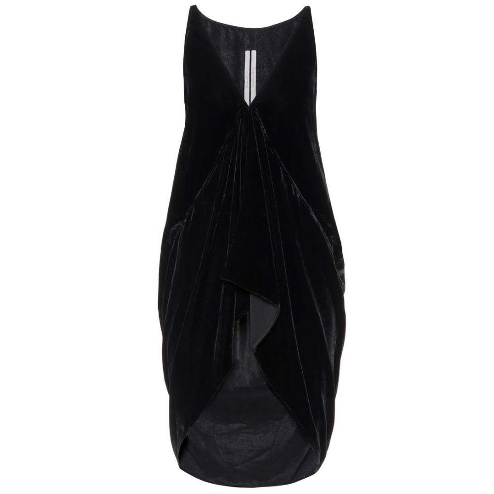 リック オウエンス レディース トップス ノースリーブ【Velvet sleeveless top】Black