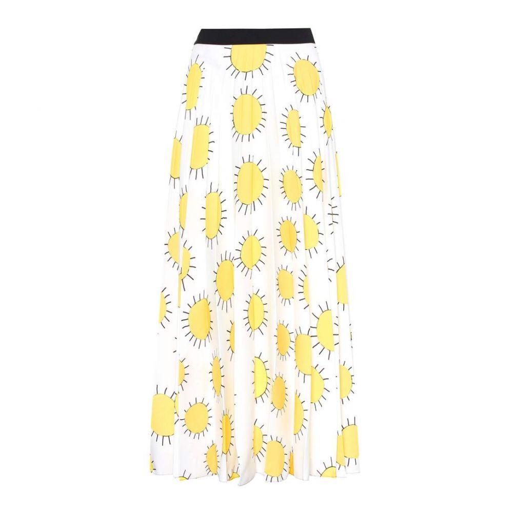 クリストファー ケイン レディース スカート【Printed crepe skirt】Gug Sun Yellow