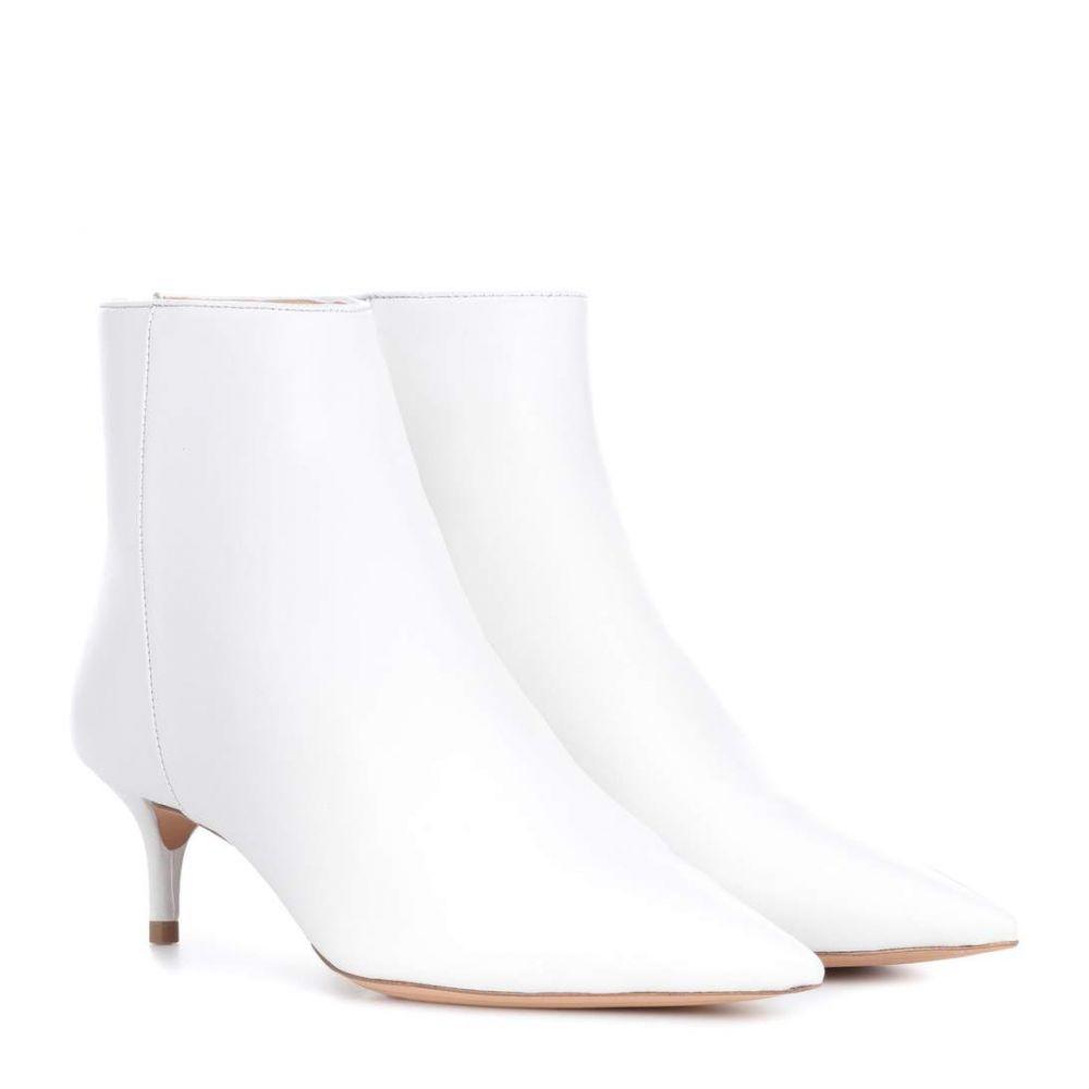 アレクサンドレ バーマン Alexandre Birman レディース シューズ・靴 ブーツ【Kittie leather ankle boots】White