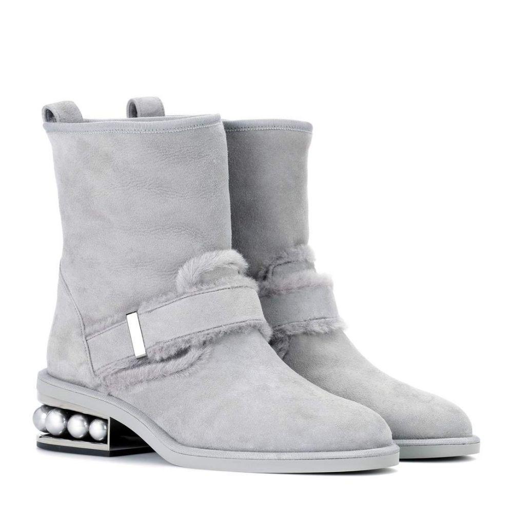 ニコラス カークウッド Nicholas Kirkwood レディース シューズ・靴 ブーツ【Casati suede ankle boots】Dark Grey