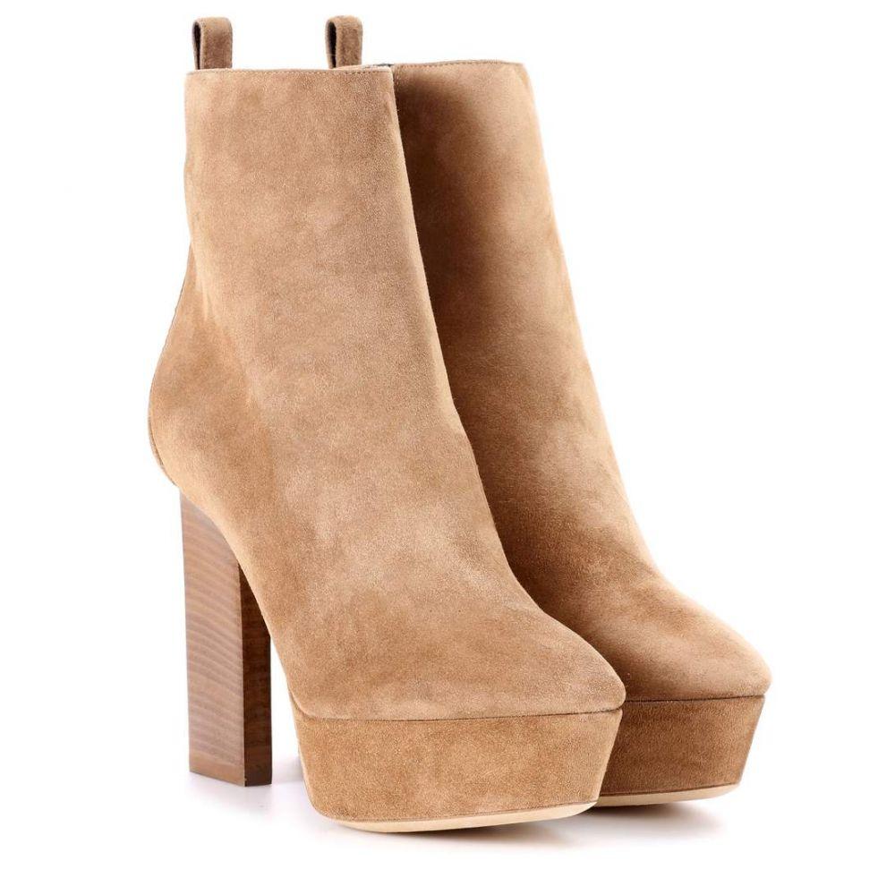 イヴ サンローラン Saint Laurent レディース シューズ・靴 ブーツ【Vika 95 suede plateau ankle boots】Park Avenue