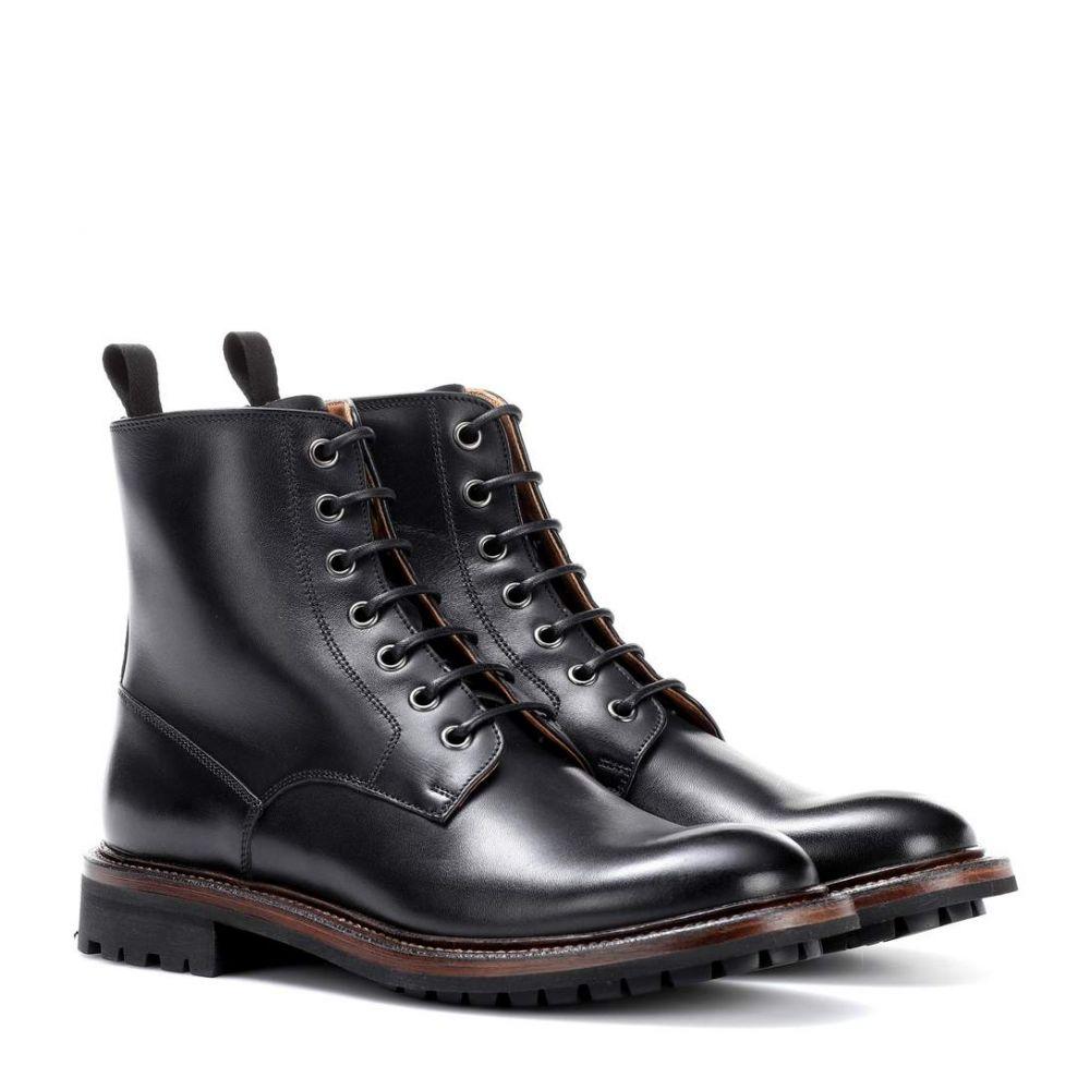 チャーチ Church's レディース シューズ・靴 ブーツ【Antic leather ankle boots】Black