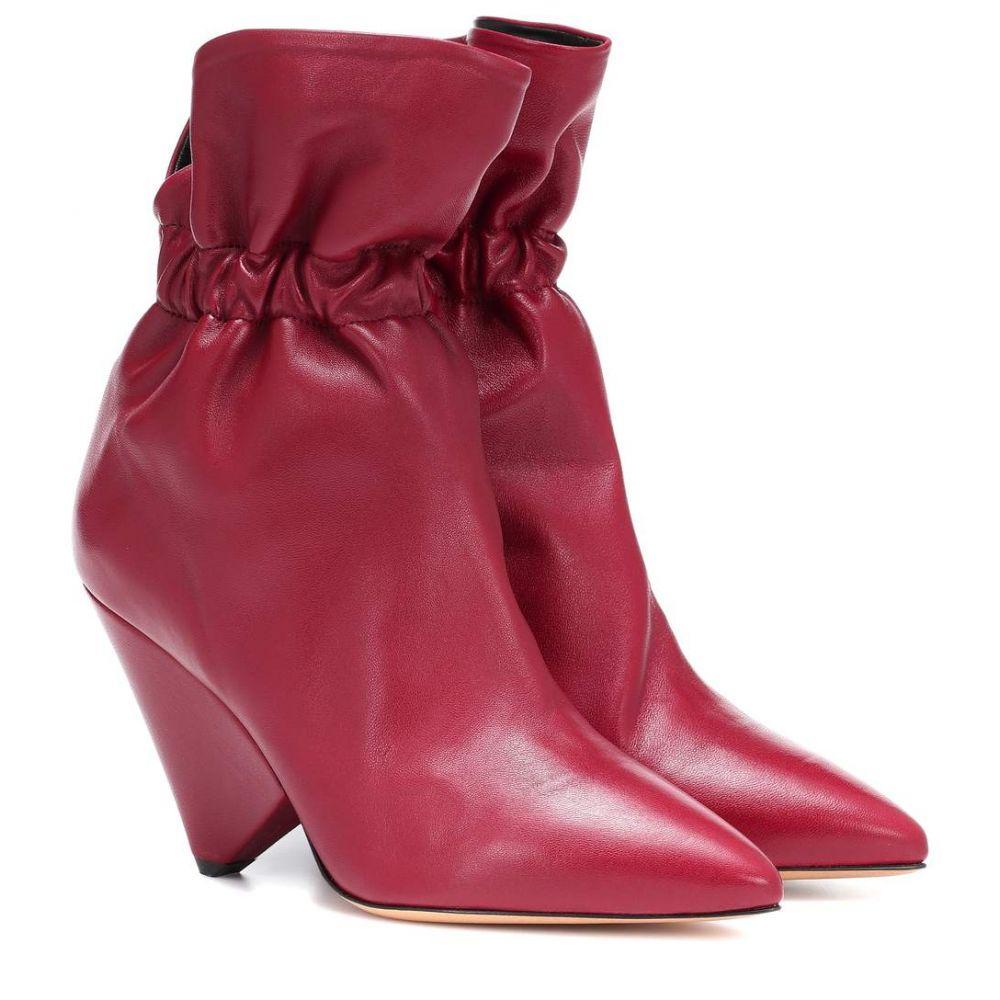イザベル マラン Isabel Marant レディース シューズ・靴 ブーツ【Lileas leather ankle boots】Burgundy