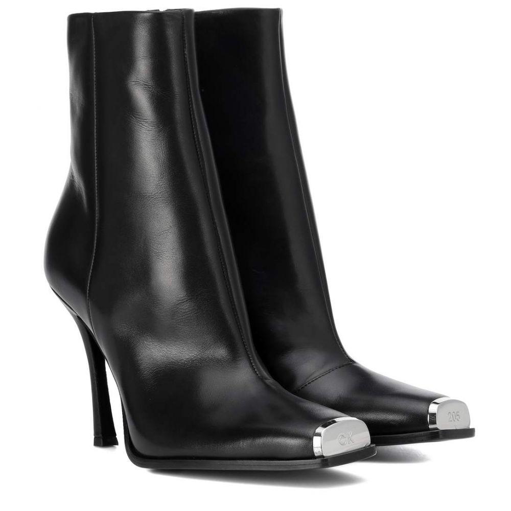 カルバンクライン シューズ・靴 Calvin Klein 205W39NYC レディース レディース シューズ・靴 ブーツ boots】Black【Wilamiona leather ankle boots】Black, しあわせワイン倶楽部:620caa85 --- sunward.msk.ru