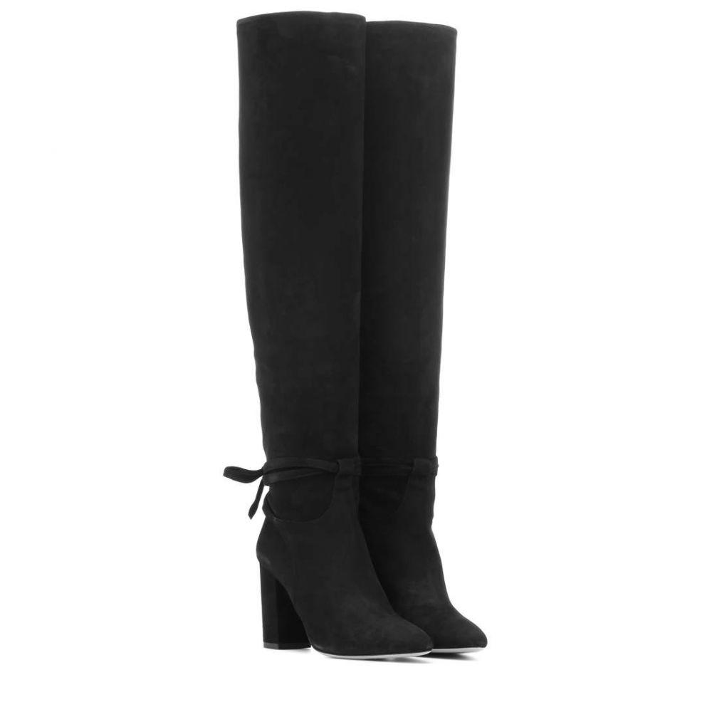 アクアズーラ Aquazzura レディース シューズ・靴 ブーツ【Milano 85 suede boots】Black