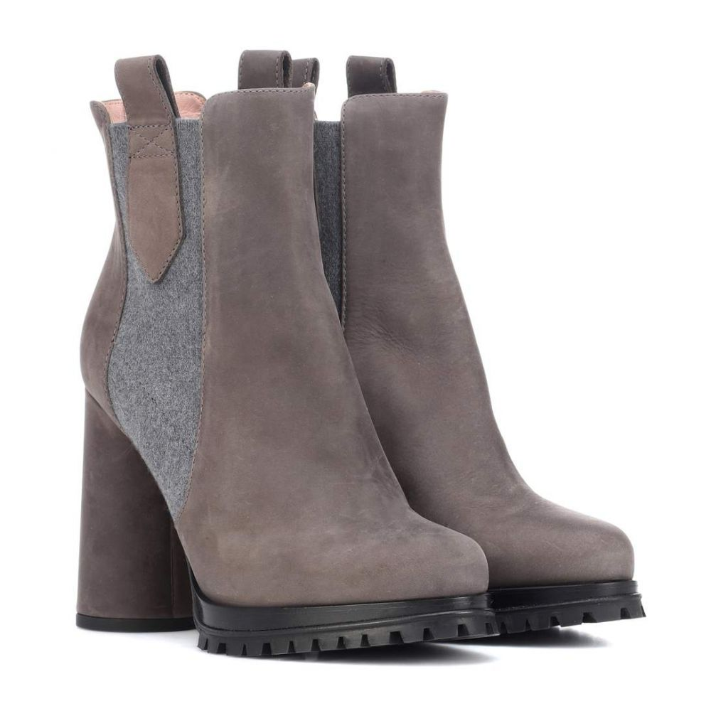 マックスマーラ Max Mara レディース シューズ・靴 ブーツ【Suede ankle boots】Mid Grey