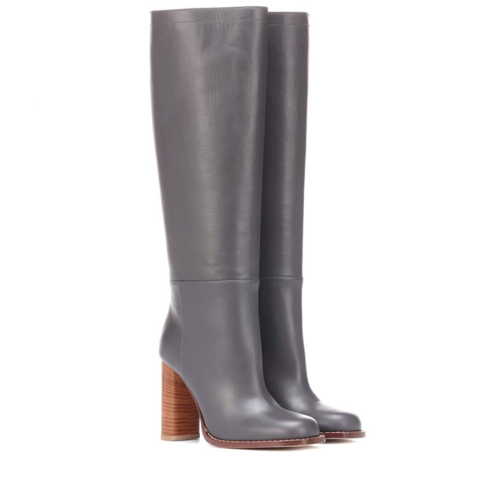 マルニ Marni レディース シューズ・靴 ブーツ【Leather knee-high boots】Taupe