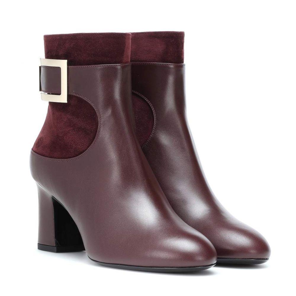 ロジェ ヴィヴィエ Roger Vivier レディース シューズ・靴 ブーツ【Trompette leather and suede ankle boots】Kraft