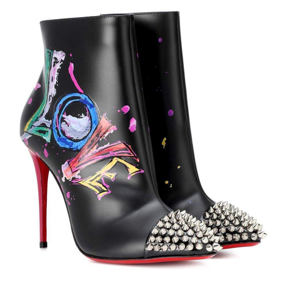 クリスチャン ルブタン Christian Louboutin レディース シューズ・靴 ブーツ【Love Is A Boot 100 ankle boots】Version Black