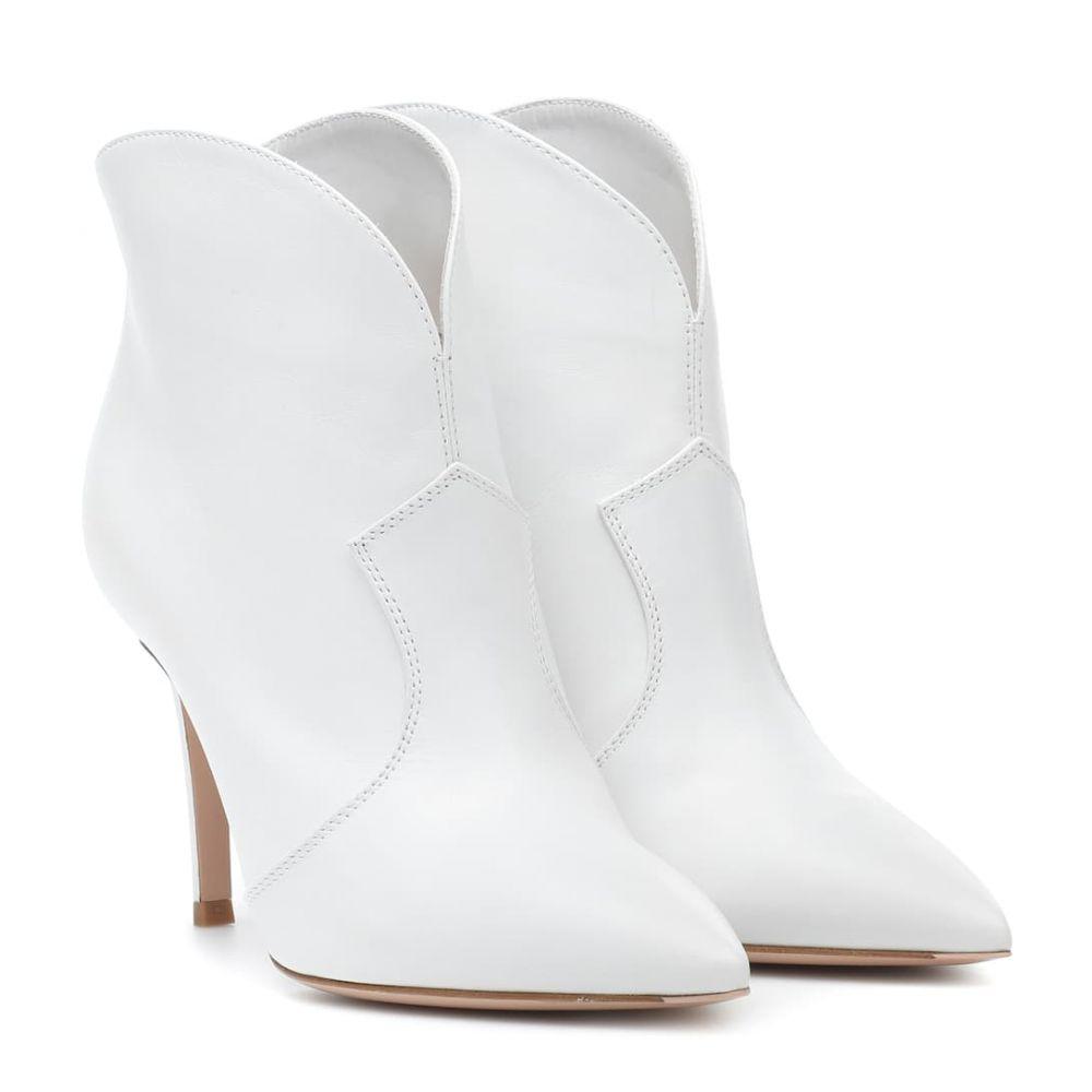 ジャンヴィト ロッシ Gianvito Rossi レディース シューズ・靴 ブーツ【Mable 85 leather ankle boots】White