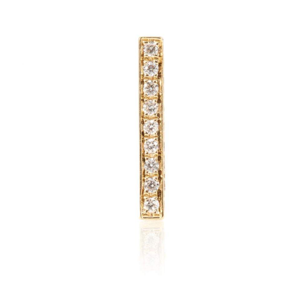 マリアタシュ Maria Tash レディース ジュエリー・アクセサリー イヤリング・ピアス【Square Diamond Pave Bar 14kt gold single earring with diamonds】