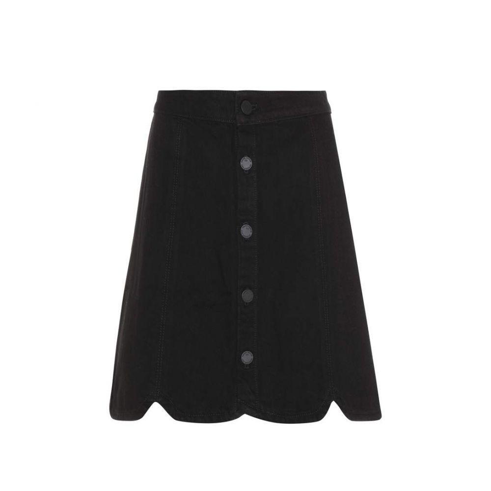 ペイジ Paige レディース スカート【Francesca cotton-blend skirt】Black Hawk