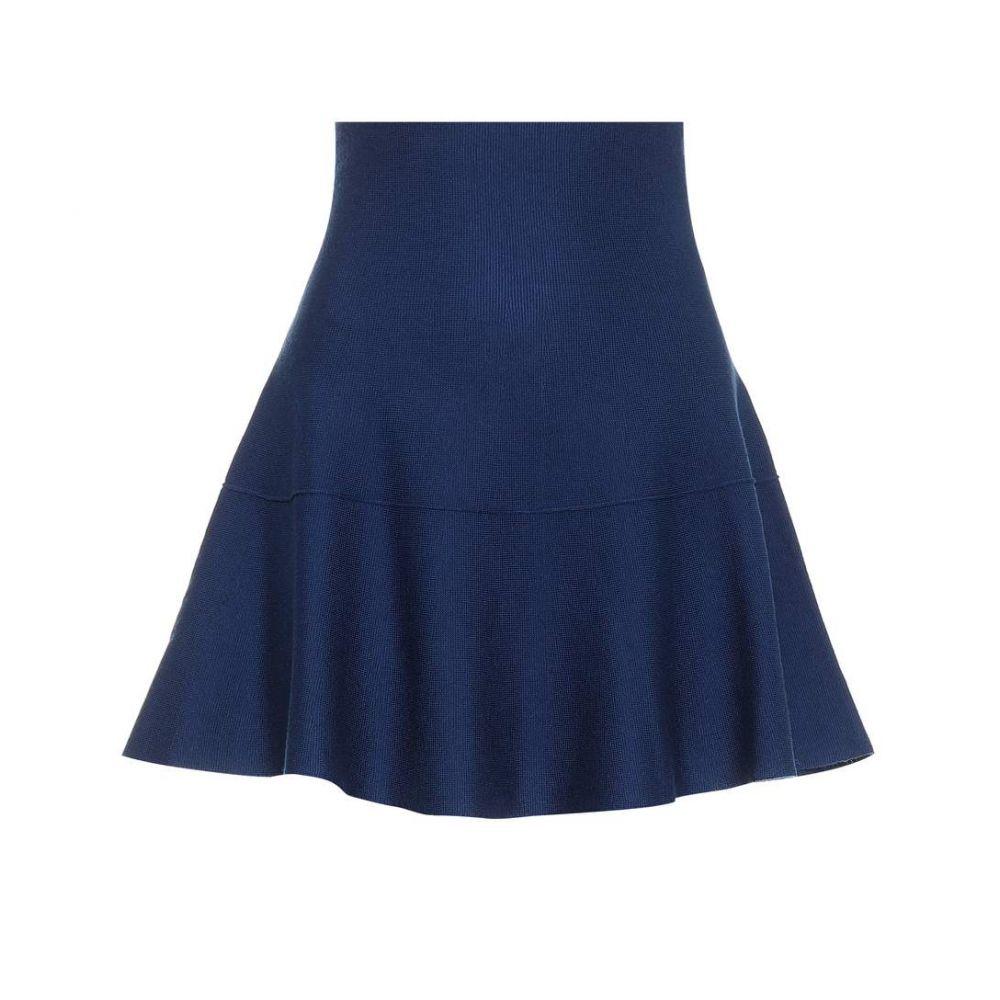ジャルダンデオランゲール Jardin des Orangers レディース スカート ミニスカート【Wool miniskirt】Blue
