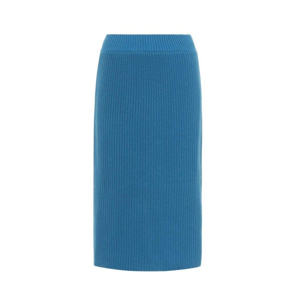 カルバンクライン Calvin Klein 205W39NYC レディース スカート【Knitted cotton skirt】Steel Blue