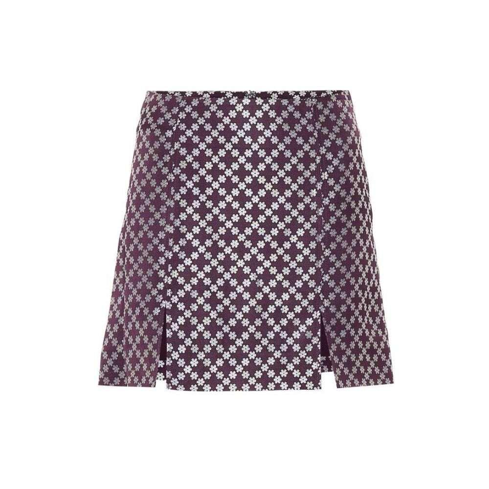 アレクサチャン AlexaChung レディース スカート ミニスカート【Brocade miniskirt】Dark Aubergine