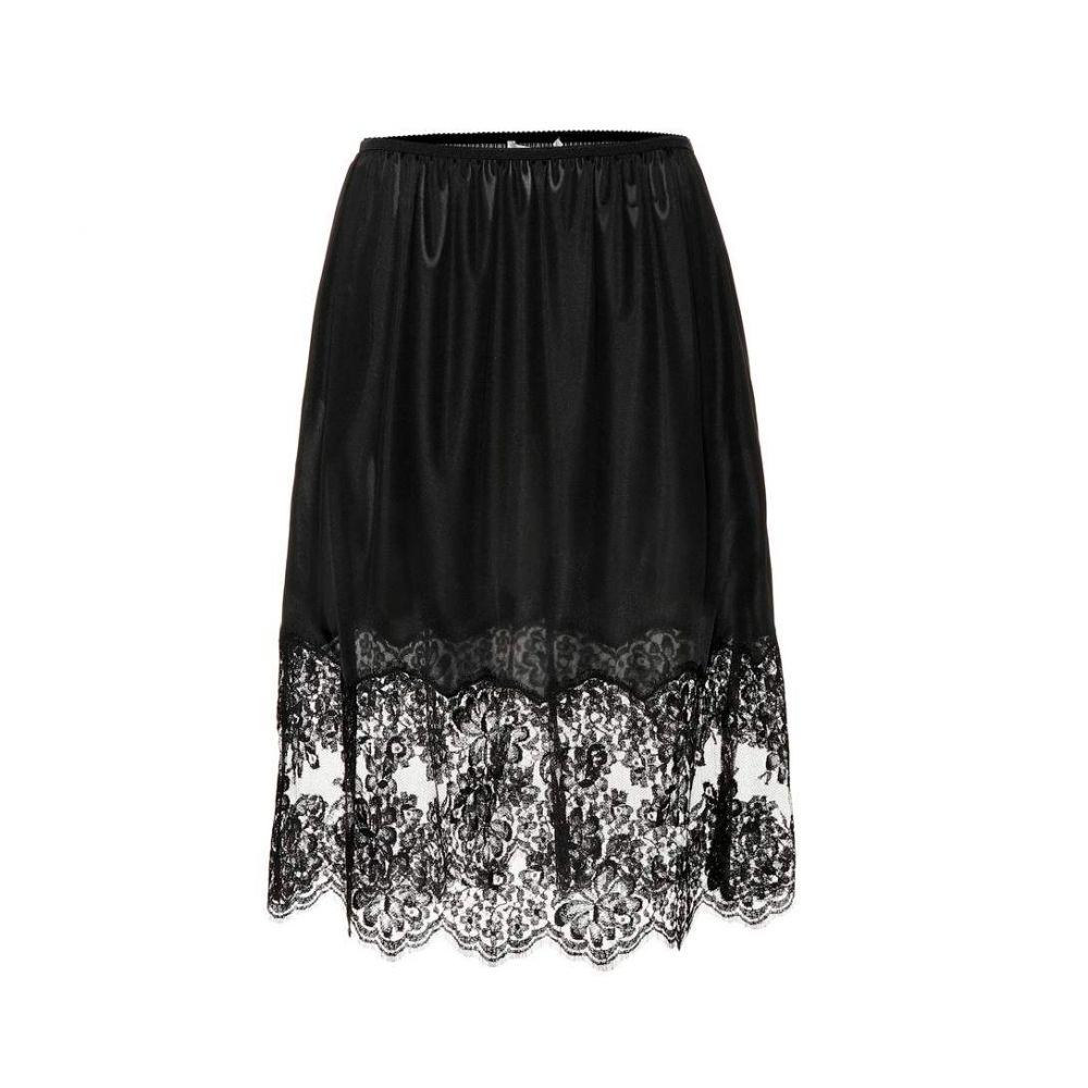 ステラ マッカートニー Stella McCartney レディース スカート ひざ丈スカート【Lace-trimmed skirt】Black