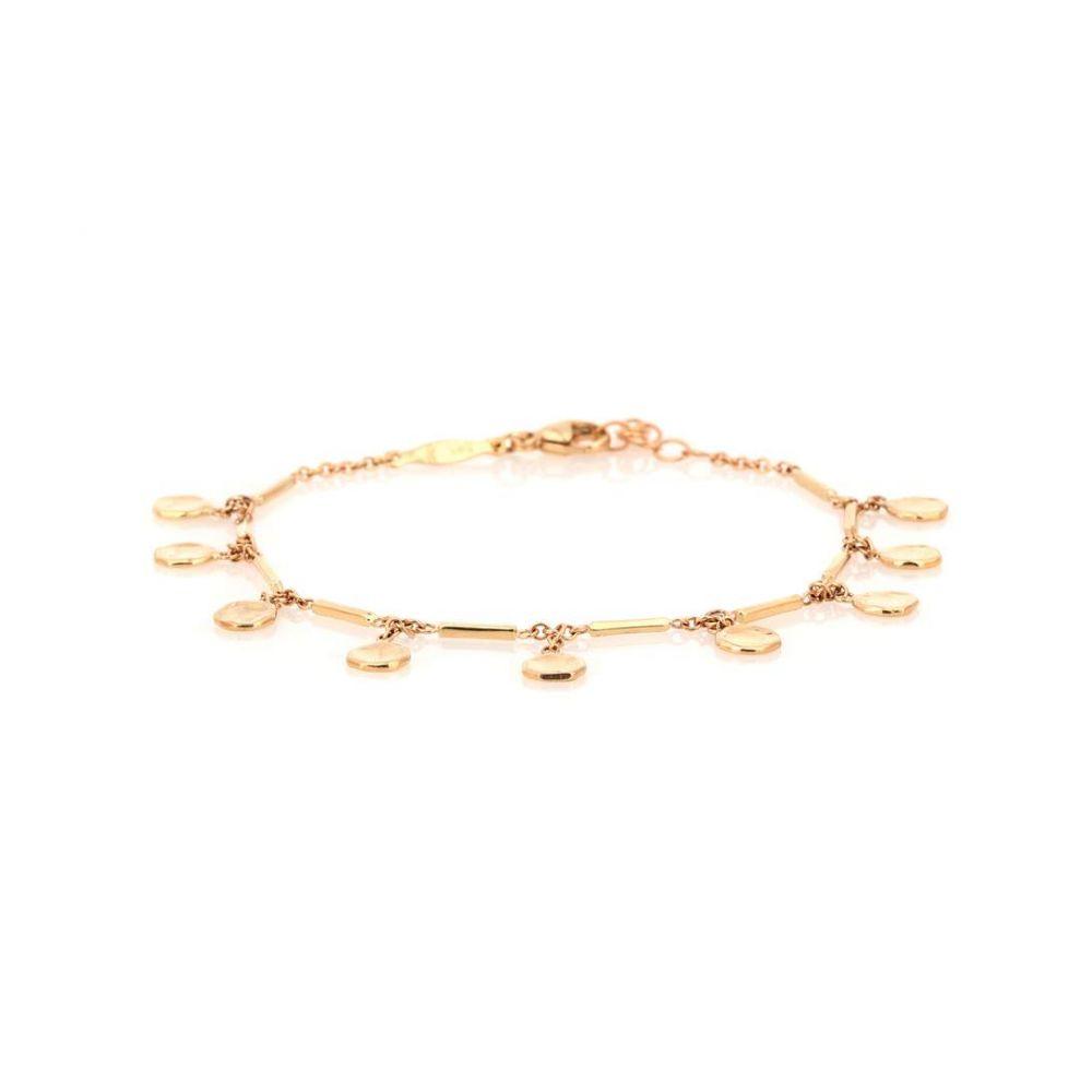 ジャッキーアイチェ Jacquie Aiche レディース ジュエリー・アクセサリー ブレスレット【14kt gold disc and bar bracelet】
