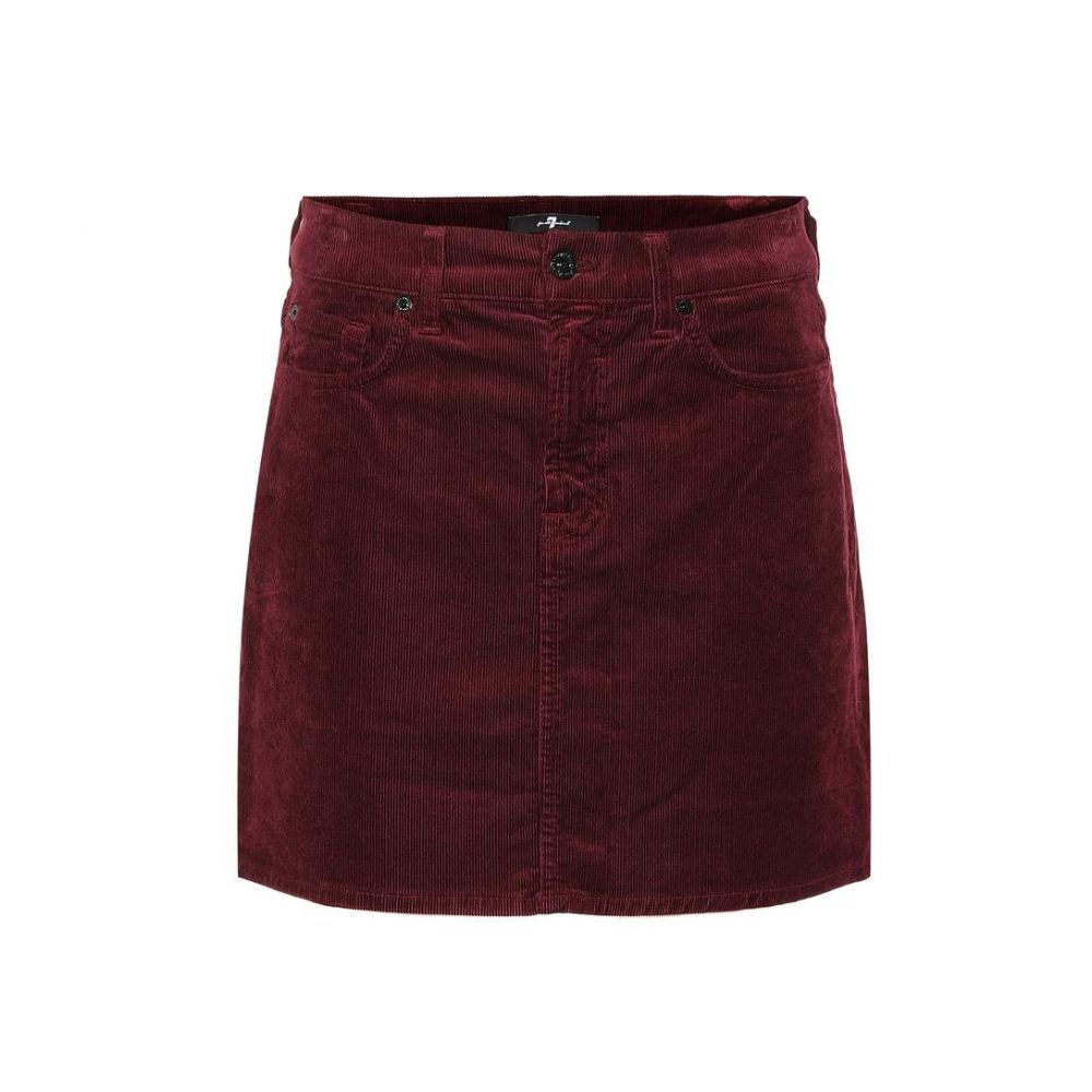 セブン フォー オール マンカインド 7 For All Mankind レディース スカート ミニスカート【Corduroy miniskirt】ruby