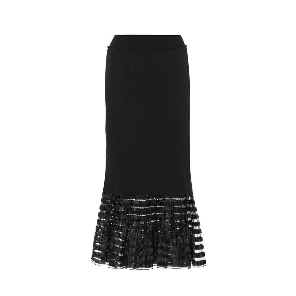 J.W.アンダーソン JW Anderson レディース スカート ひざ丈スカート【Organza-trimmed cotton skirt】black