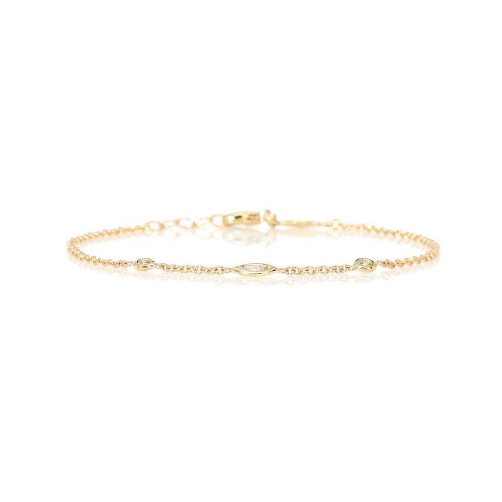 ジャッキーアイチェ Jacquie Aiche レディース ジュエリー・アクセサリー ブレスレット【Spaced Out 14kt yellow gold and diamond bracelet】