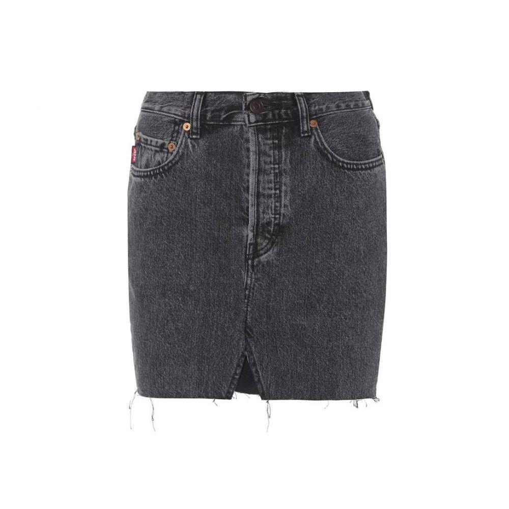 ヴェトモン Vetements レディース スカート ミニスカート【Denim miniskirt】Noir
