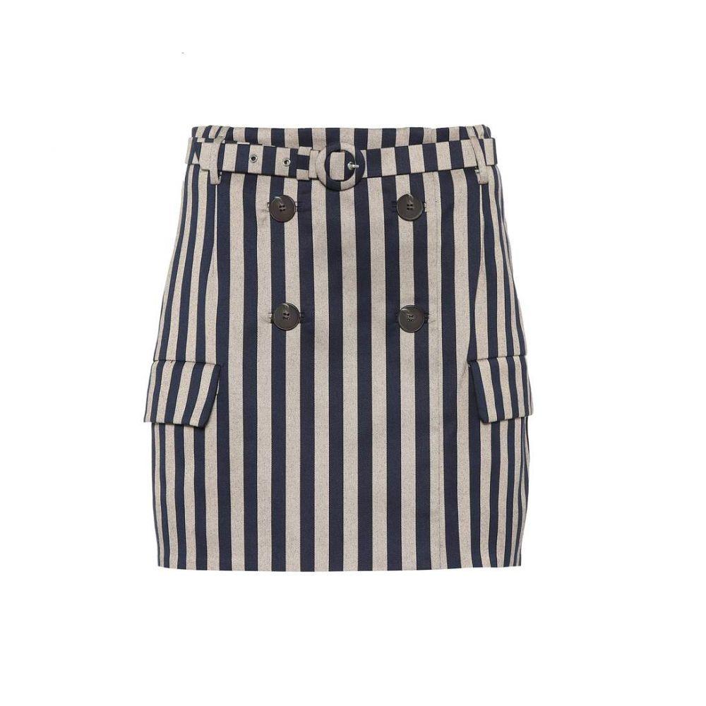 ジョナサン シンカイ Jonathan Simkhai レディース スカート ミニスカート【Striped belted skirt】Midnight/Kha