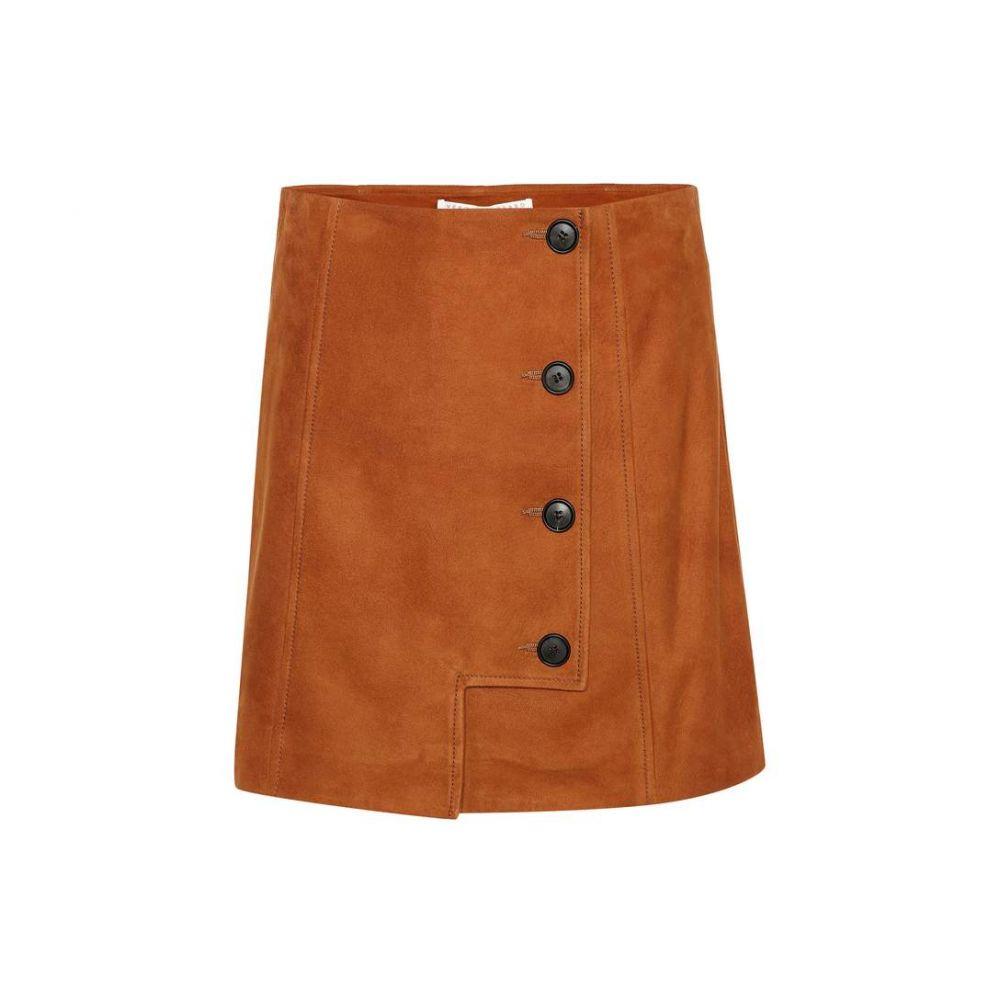ヴェロニカ ベアード Veronica Beard レディース スカート ミニスカート【Ana suede miniskirt】Cognac