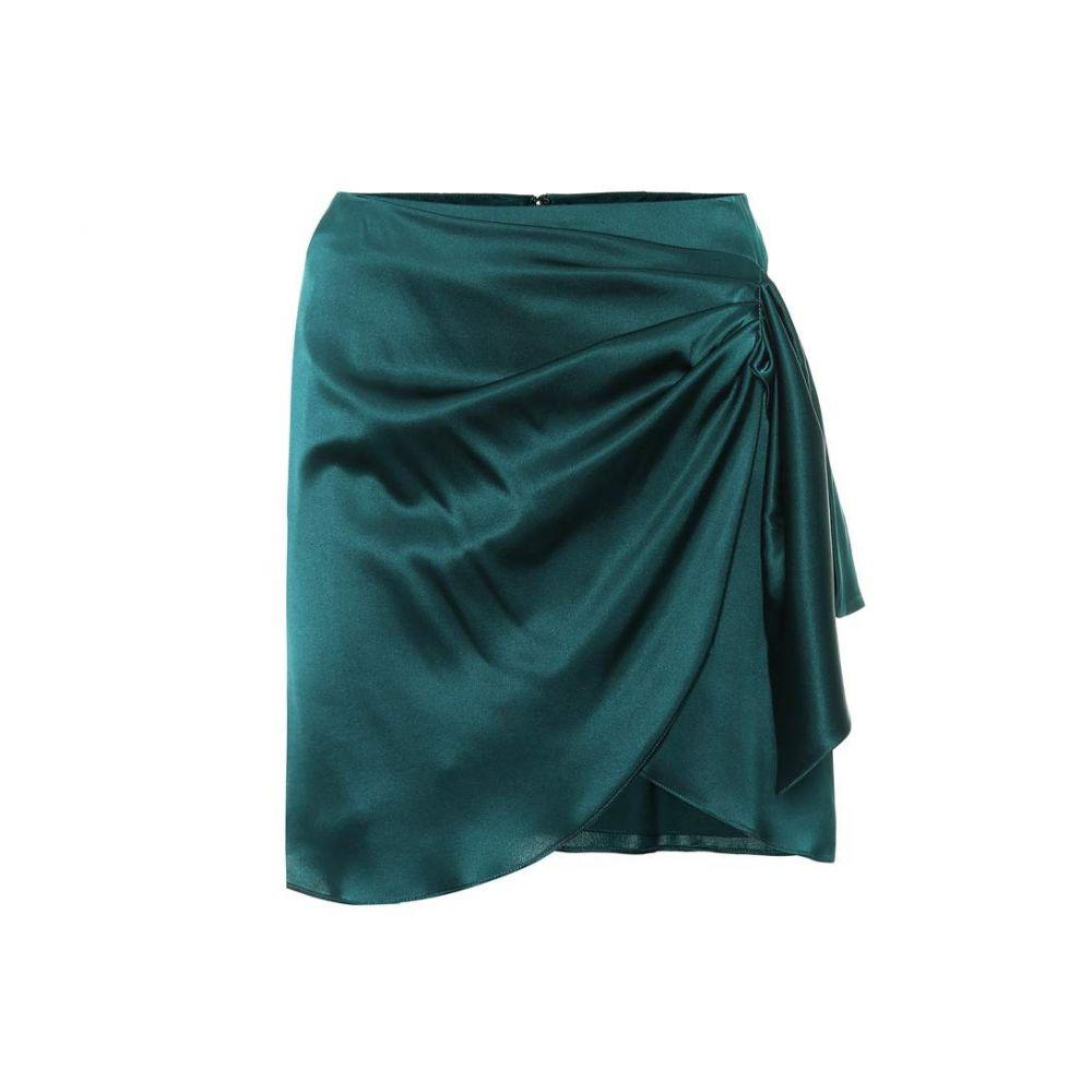 キャロライン コンスタス Caroline Constas レディース スカート ミニスカート【Koren gathered silk miniskirt】emerald