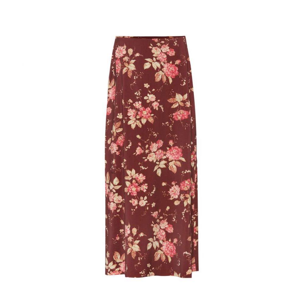 ジマーマン Zimmermann レディース スカート ロング・マキシ丈スカート【Unbridled Contour printed skirt】Garnet Garden Floral