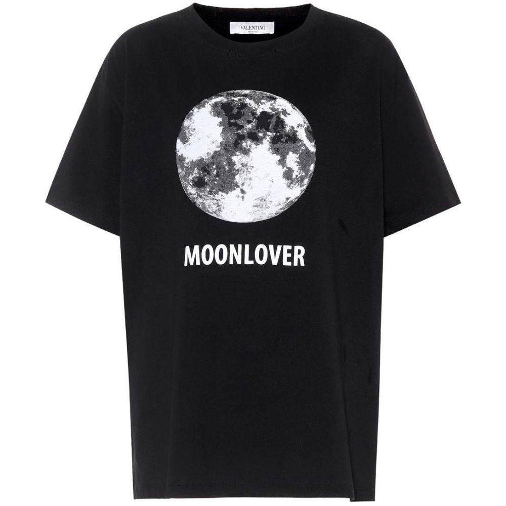ヴァレンティノ Valentino レディース トップス Tシャツ【Printed cotton T-shirt】Nero