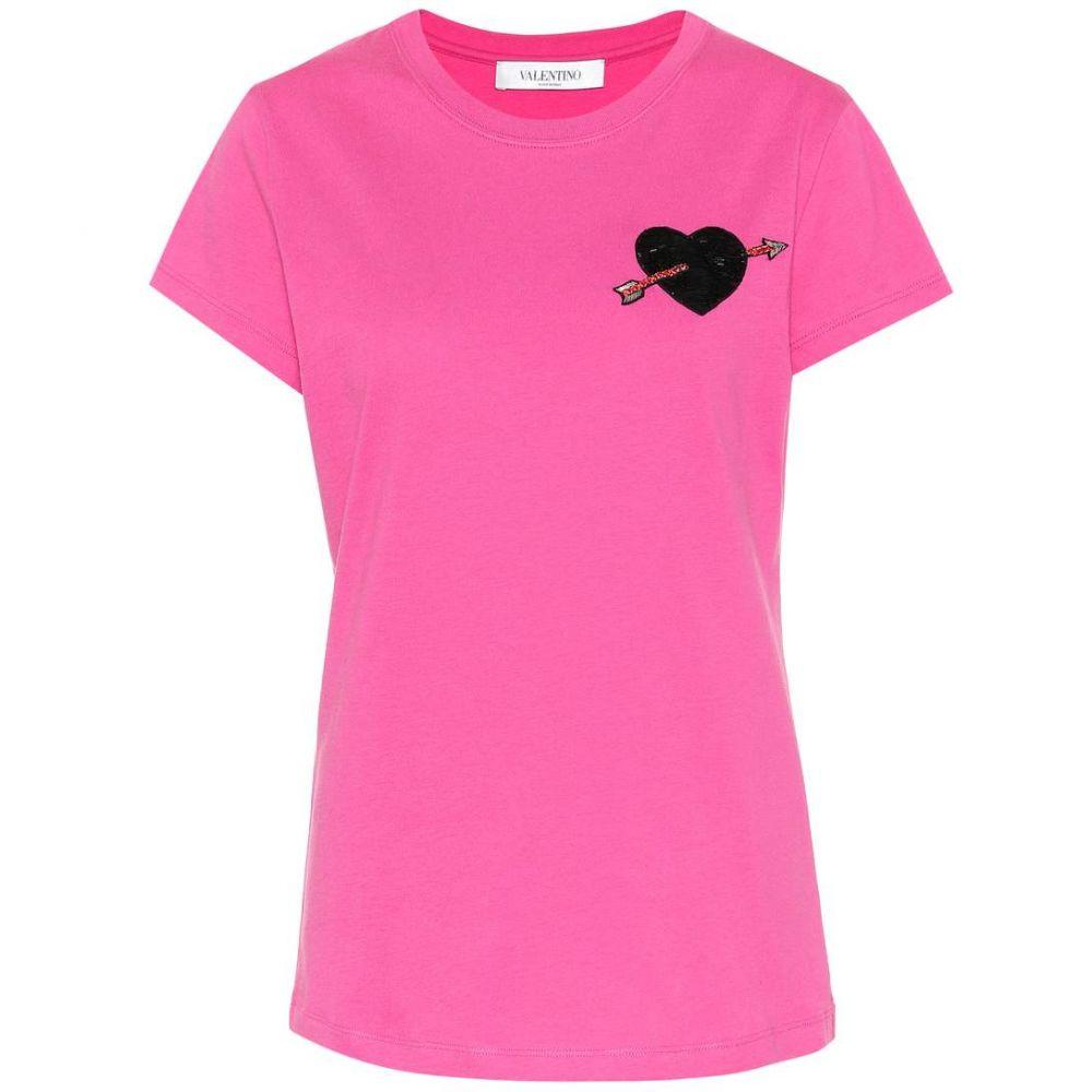 ヴァレンティノ Valentino レディース トップス Tシャツ【Cotton T-shirt】Fuschia Pink