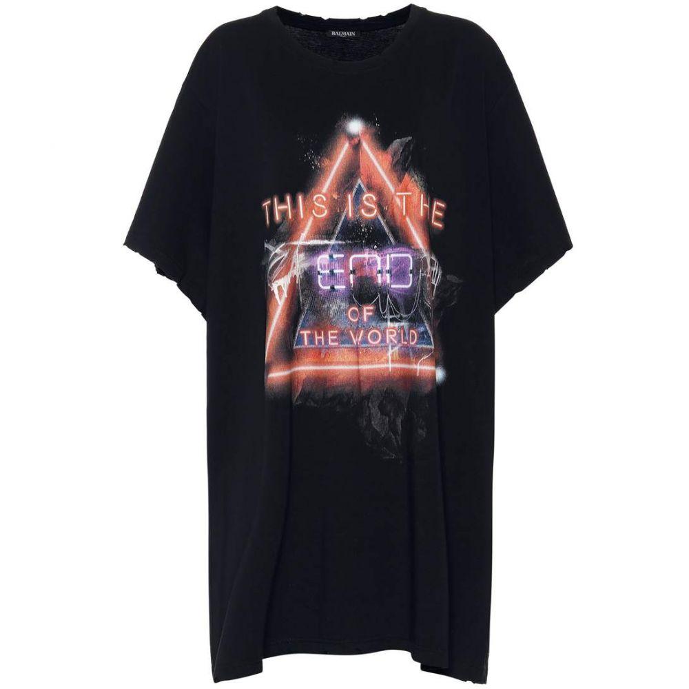 バルマン Balmain レディース トップス Tシャツ【Printed cotton T-shirt】