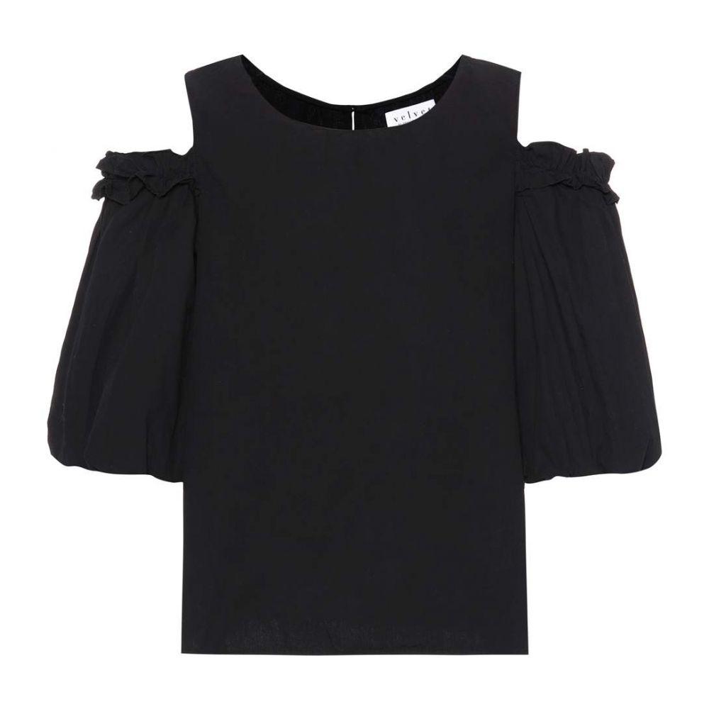 ベルベット グラハム&スペンサー Velvet レディース トップス【Darvine cotton top】black