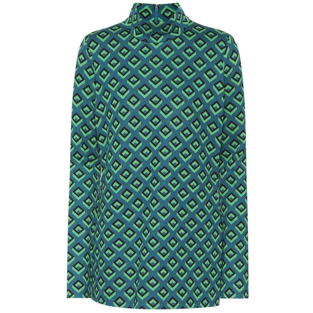 ダイアン フォン ファステンバーグ Diane von Furstenberg レディース トップス【Jacquard knit top】green multi