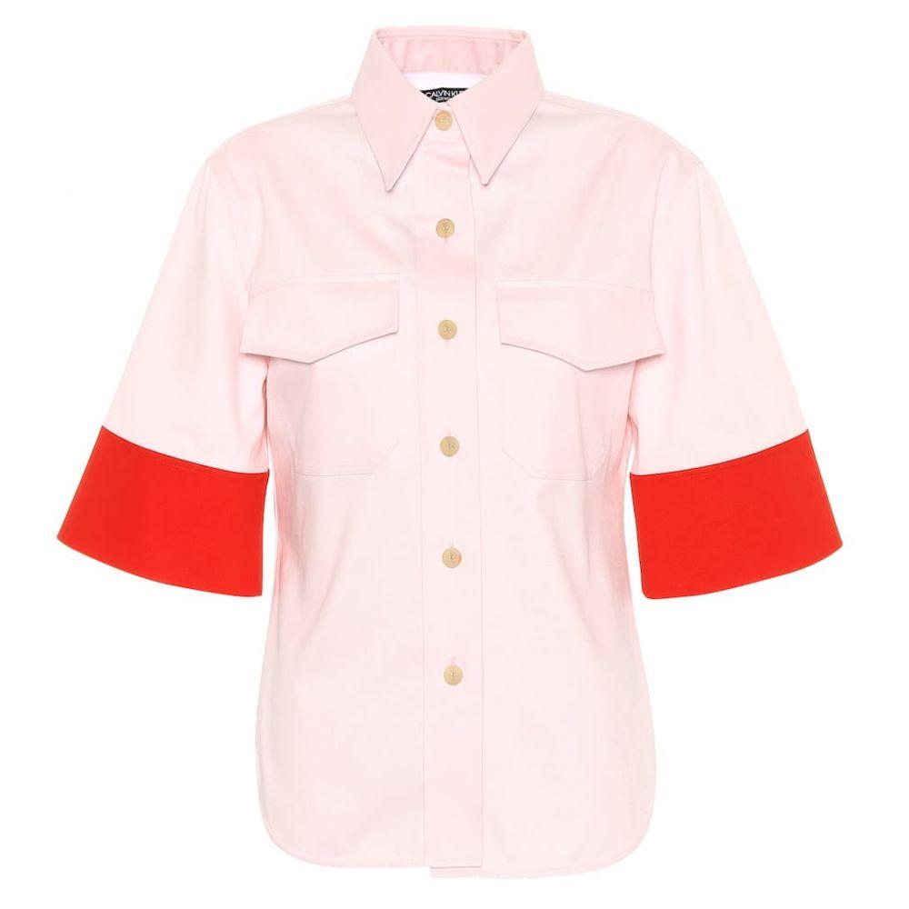 カルバンクライン Calvin Klein 205W39NYC レディース トップス【Cotton top】Rose Red