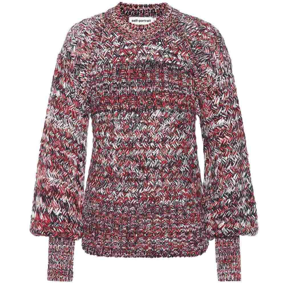 セルフ ポートレイト Self-Portrait レディース トップス ニット・セーター【Bishop-sleeve cotton-blend sweater】multi