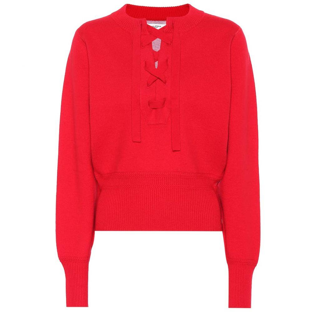 イザベル マラン Isabel Marant, Etoile レディース トップス ニット・セーター【Lace-up sweater】Red