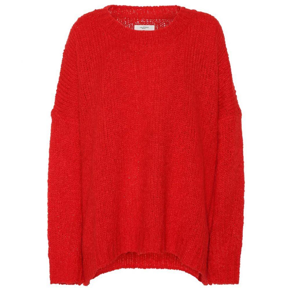 イザベル マラン Isabel Marant, Etoile レディース トップス ニット・セーター【Alpaca and wool-blend sweater】Red