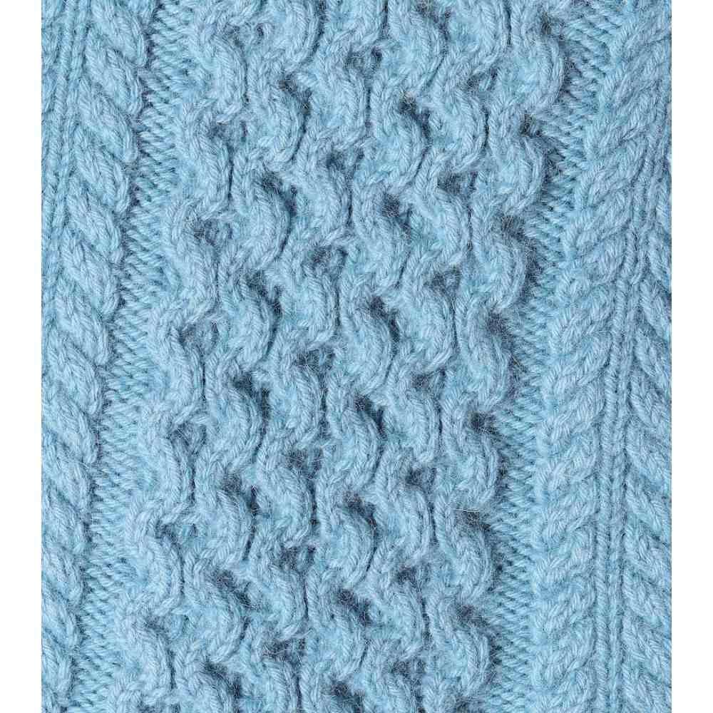 "Elegant  Eyelet Cardigan with Zig Zag Border  34/"" 54/"" ~ Aran Knitting Pattern"