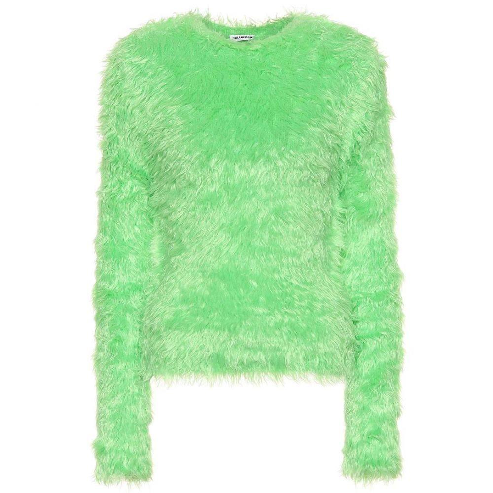 バレンシアガ Balenciaga レディース トップス ニット・セーター【Faux fur sweater】acid green