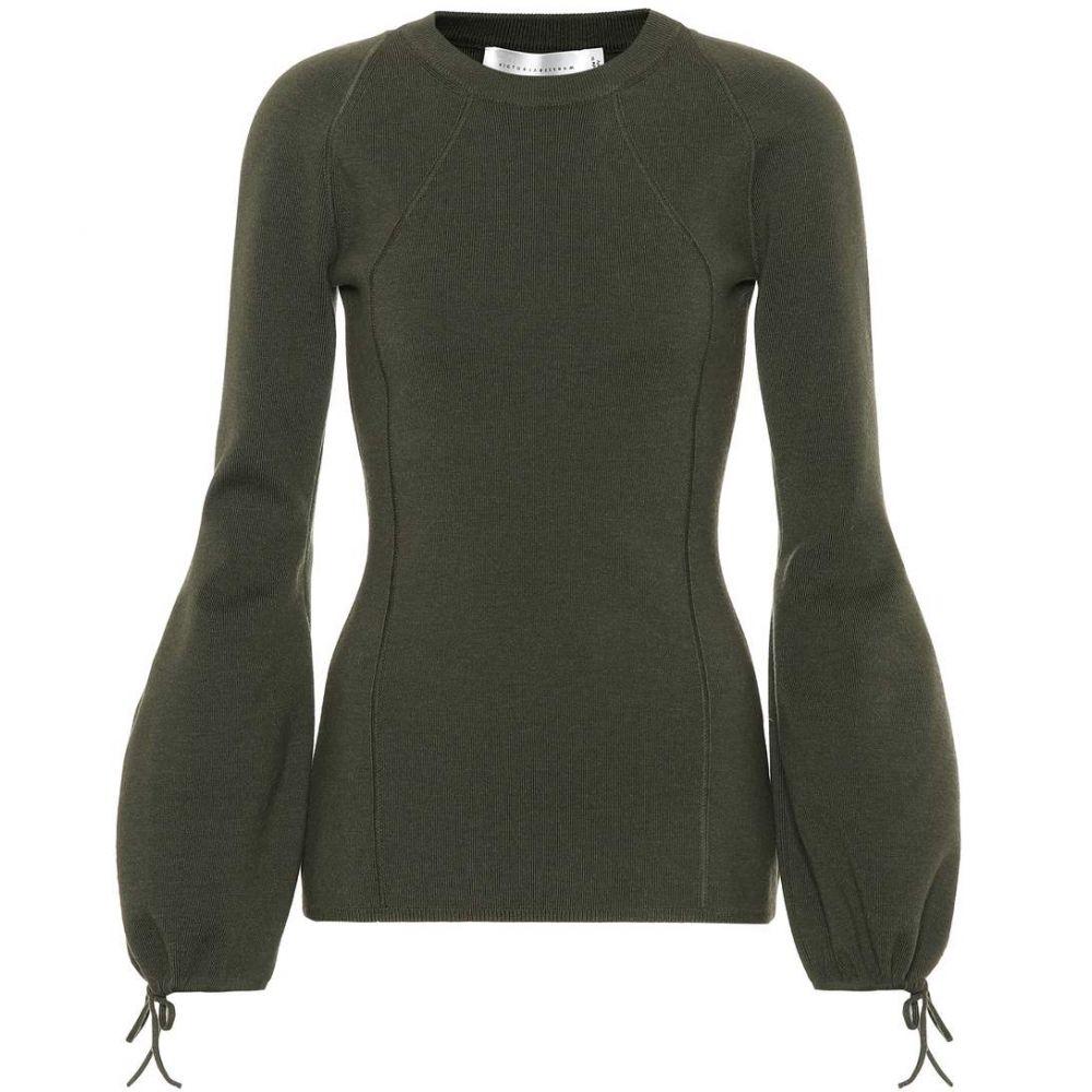 ヴィクトリア ベッカム Victoria Beckham レディース トップス ニット・セーター【Wool-blend sweater】military green