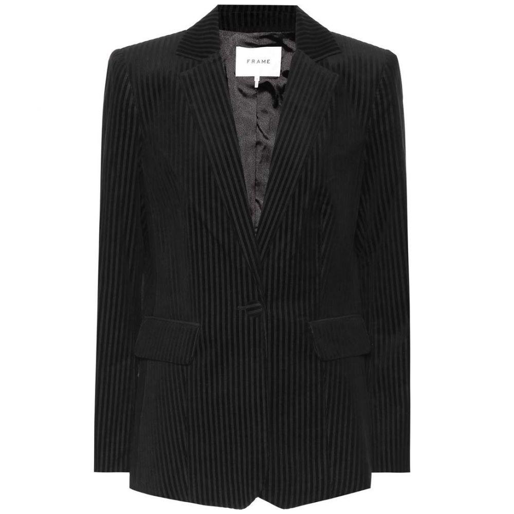 フレーム Frame レディース アウター スーツ・ジャケット corduroy【Classic corduroy レディース blazer】Noir blazer】Noir, キヨカワムラ:065515a9 --- officewill.xsrv.jp